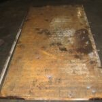 plywood press platen before