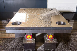 Machining Holes and Edges of Steel Base Plate