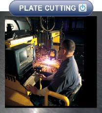We flame cut and burn base plates and other custom steel parts.